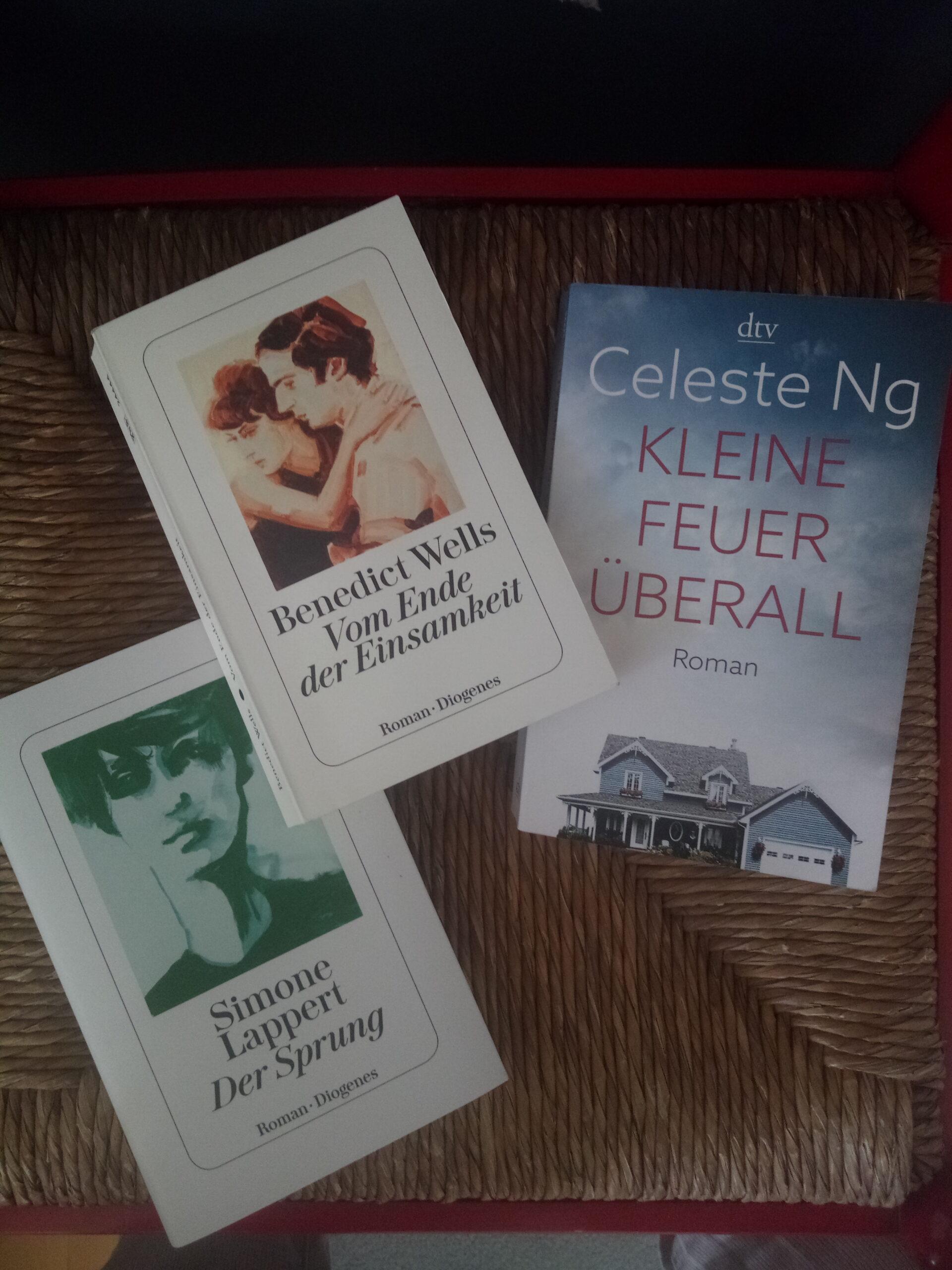 Bücher von Benedict Wells, Celeste Ng, Simone Lappert