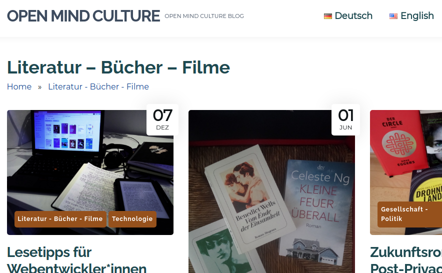 screenshot of German content and bilingual language switcher