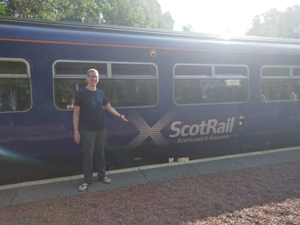 Ingo Steinke travelled to Scotland by train